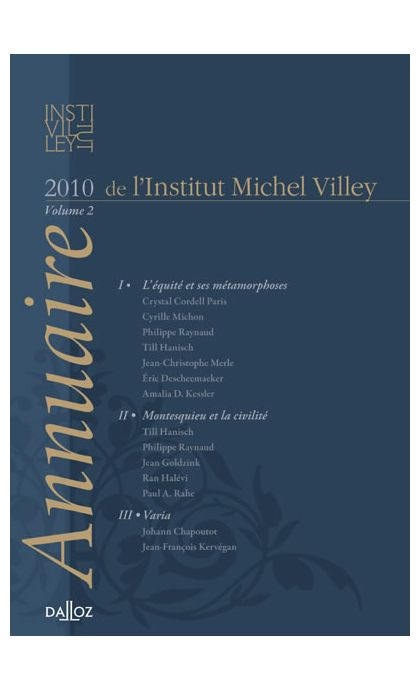 Annuaire de l'Institut Michel Villey. Volume 2 - 2010