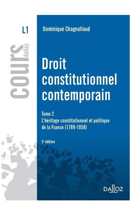 Droit constitutionnel contemporain Tome 2