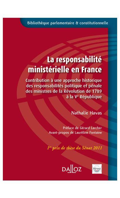 La responsabilité ministérielle en France