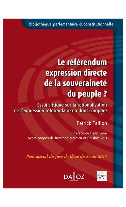 Le référendum expression directe de la souveraineté du peuple ?