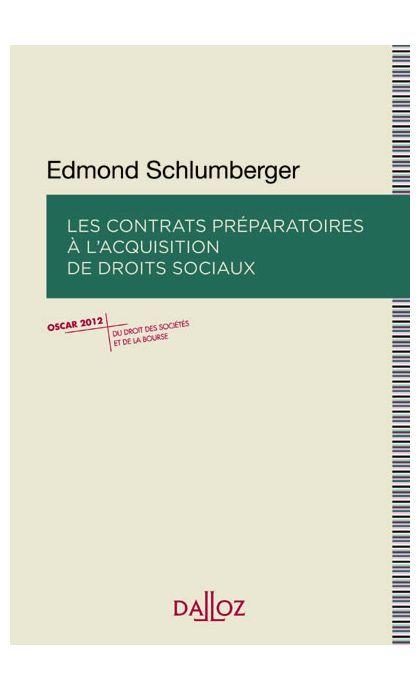 Les contrats préparatoires à l'acquisition de droits sociaux