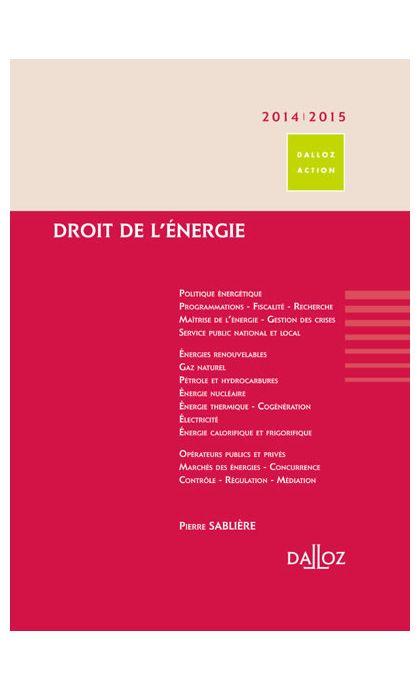 Droit de l'énergie 2014/15