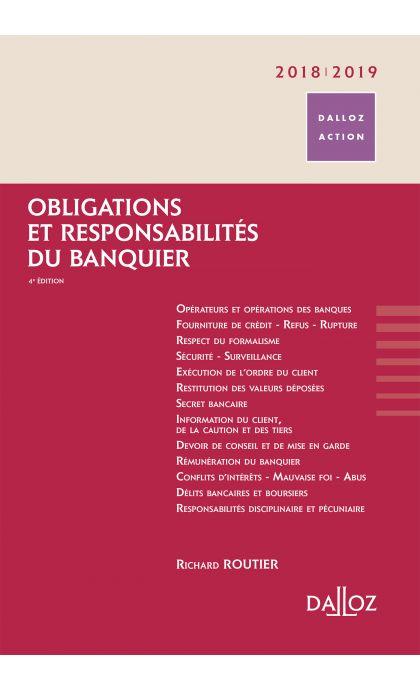 Obligations et responsabilités du banquier 2018/2019