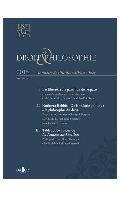 Droit Philosophie. Annuaire de l'Institut Michel Villey 2015