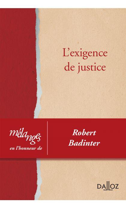 Mélanges en l'honneur de Robert Badinter