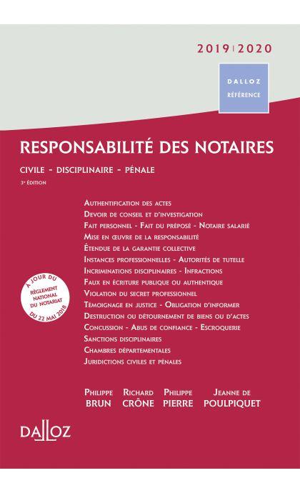 Responsabilité des notaires 2019/2020