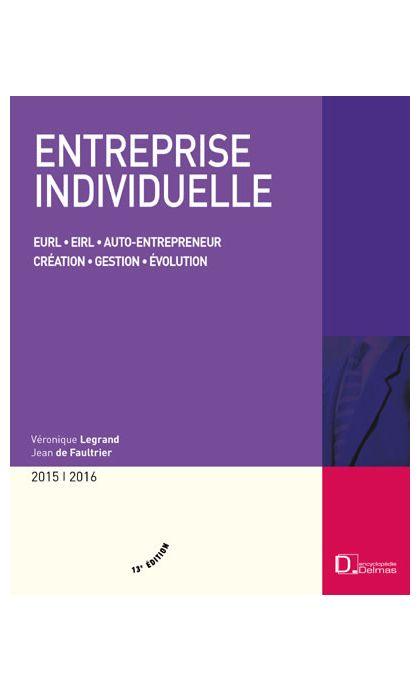 Entreprise individuelle 2015/2016
