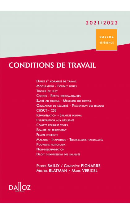 Conditions de travail 2021/22