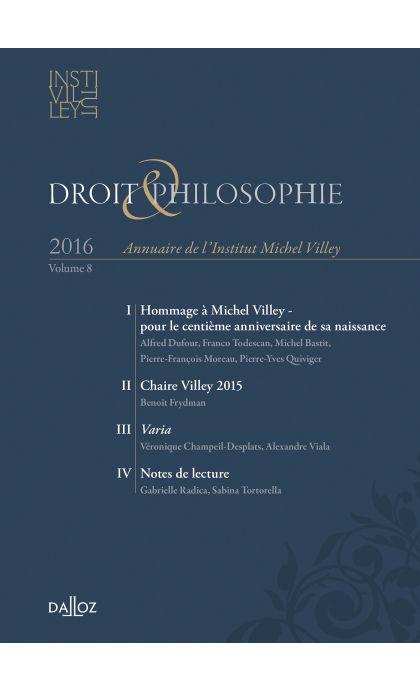 Annuaire de l'Institut Michel Villey 2016