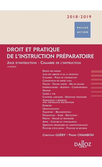 Droit et pratique de l'instruction préparatoire 2018/19