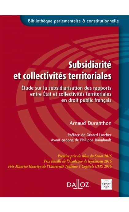 Subsidiarité et collectivités territoriales