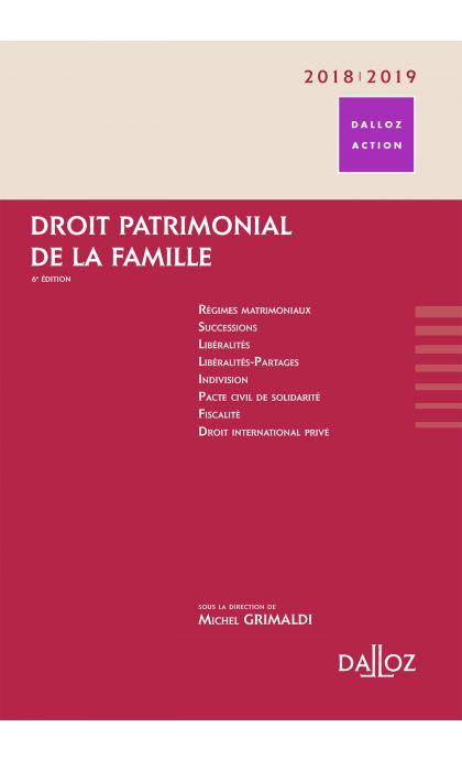 Droit patrimonial de la famille 2018/19