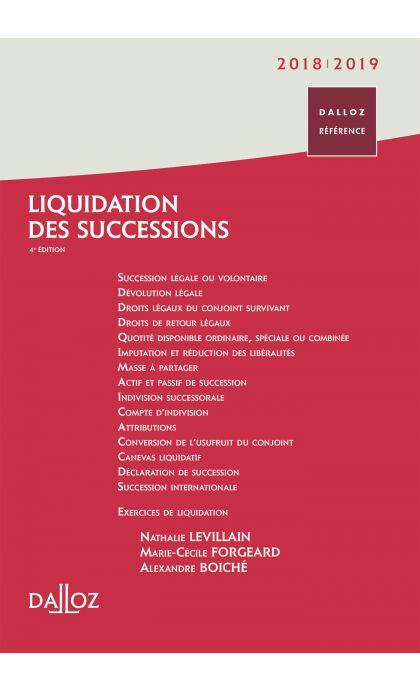 Liquidation des successions 2018/2019