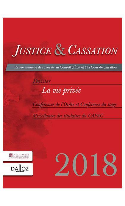 Justice et cassation 2018