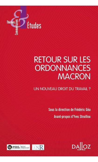 Retour sur les ordonnances Macron.