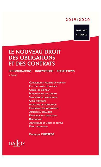 Le nouveau droit des obligations et des contrats 2019/2020