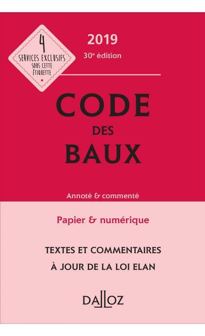Code des baux 2019, Annoté & commenté