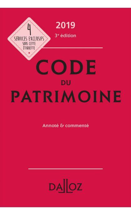 Code du patrimoine 2019, annoté et commenté