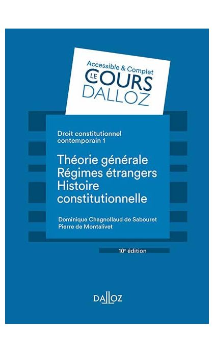 Droit constitutionnel contemporain Tome 1