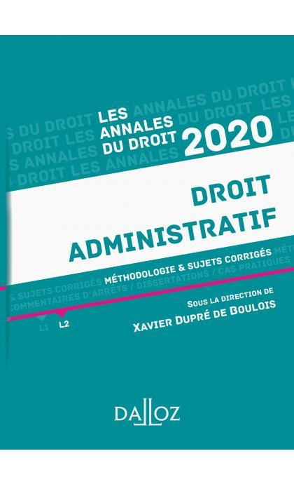 Annales Droit administratif 2020