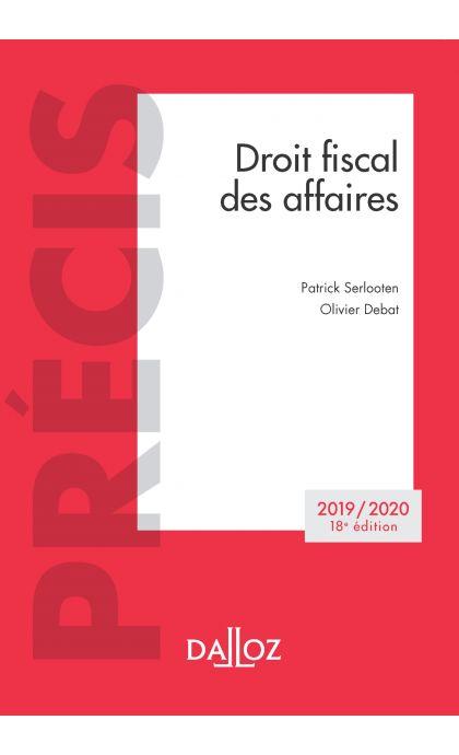 Droit fiscal des affaires 2019/2020