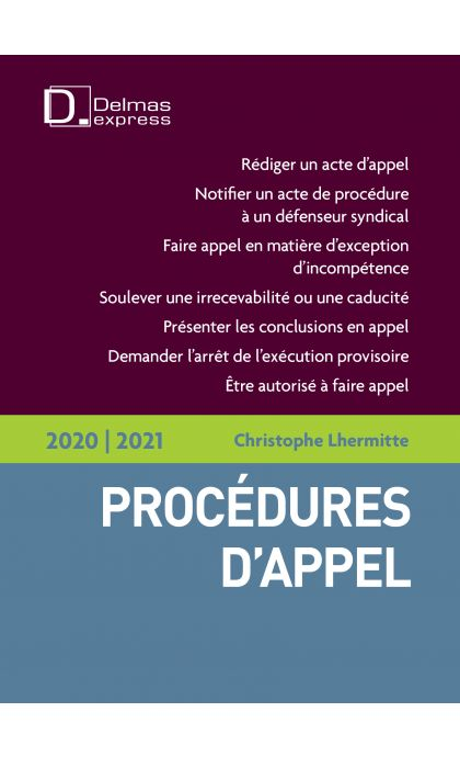 Procédures d'appel 2020/2021