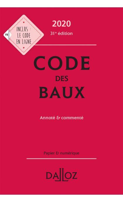 Code des baux 2020, Annoté et commenté