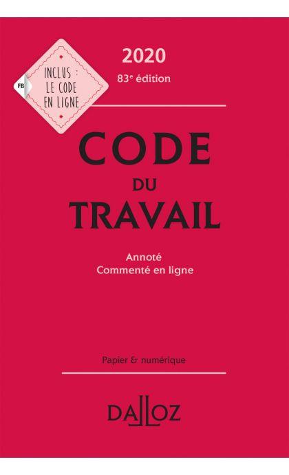 Code du travail 2020, annoté et commenté en ligne