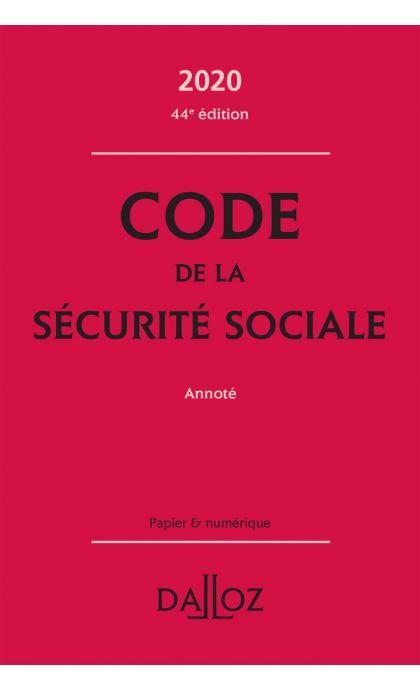 Code de la sécurité sociale 2020, annoté