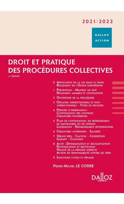 Droit et pratique des procédures collectives 2021/2022