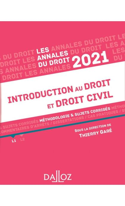 Annales Introduction au droit et droit civil 2021