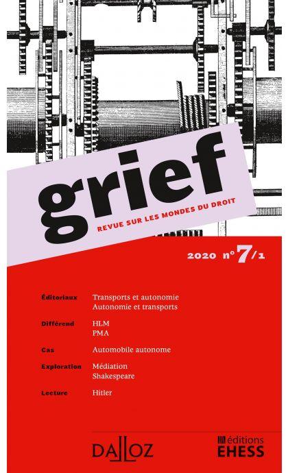 Grief, Revue sur les mondes du droit 2020 n°7/1