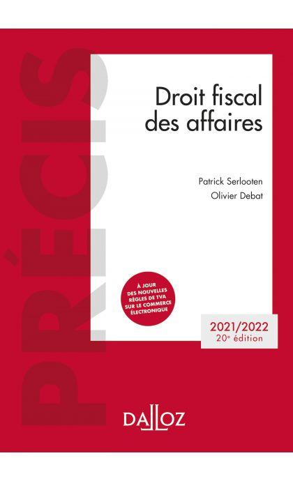 Droit fiscal des affaires 2021-2022