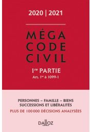 Méga Code civil 2020, 1re partie